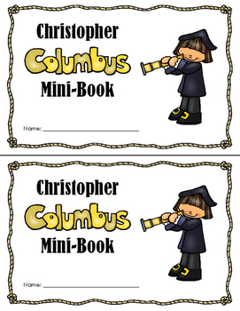 Columbus Reproducible Mini-Book (Color)