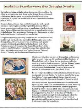 Columbus - Part 1  (11) - Poem, Worksheets, Puzzle