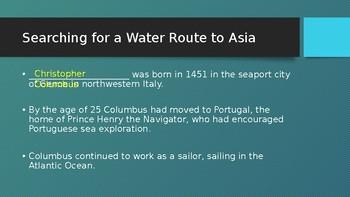 Columbus Power Point