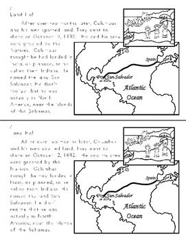 Columbus Reproducible Mini-Book (Black and White)