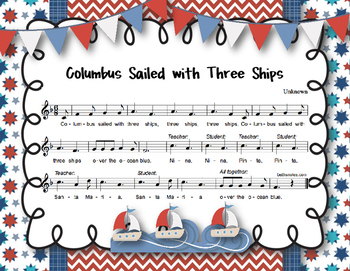 Columbus Day: Columbus Sailed with Three Ships - Trad. Song, Orff Accompaniment