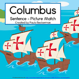Columbus Sentence Picture Match Reading Center for October