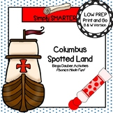 Columbus Spotted Land:  NO PREP Columbus Day Themed Bingo Dauber Activities