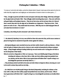 Columbus Trial Documents