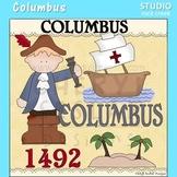 Columbus US History Color Clip Art  C. Seslar
