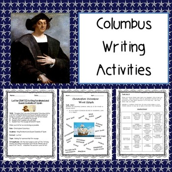 Columbus Writing Activities