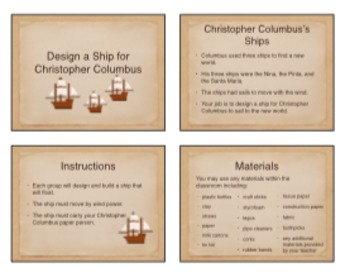 Columbus's Ships with STEM, Emergent Reading, & Writing activities