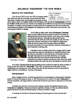 Columbus - the Good, the Bad, and the Very Ugly - supplemental text