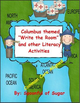 "Columbus themed ""Write the Room"" and other Literacy Activities"