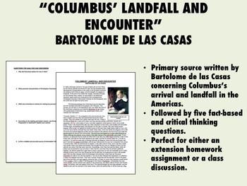 """Columbus' Landfall and Encounter"" - Bartolome de las Casas - Global/World/USH"