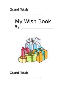 Adding Money Holiday Wish Book