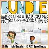 BAR GRAPHS BUNDLE: INTERACTIVE SHEETS: PICTOGRAPHS: CLASS SURVEYS
