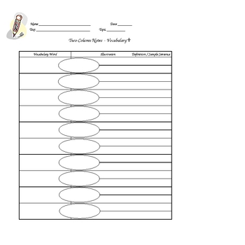 Column Notes Graphic Organizers 9 Different Styles By La