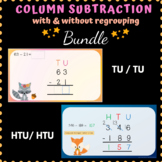 Column Subtraction Bundle with and without regrouping Powe