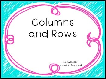 Column and Rows Task Cards / SCOOT / Gallery Walk
