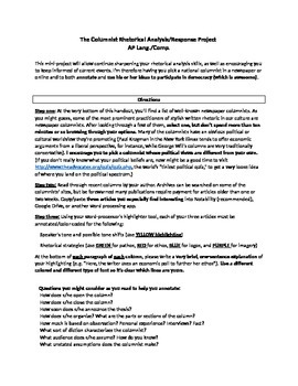 Op-Ed Analysis Project (AP Lang./Comp.)