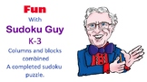Fun with Sudoku Guy  (K-gr3, LESSON 6: Horizontal blocks a