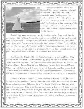 Comanche Reading Passages