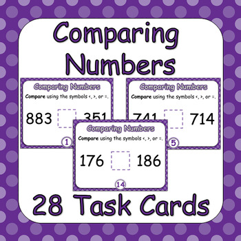 Compare Three-Digit Numbers Task Cards