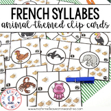 Combien de syllabes? Animaux (FRENCH Animal Syllable Counting Literacy Centre)