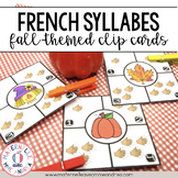 Combien de syllabes? Automne (FRENCH Fall Syllable Counting Literacy Centre)