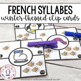 Combien de syllabes? Hiver (FRENCH Winter Syllable Countin