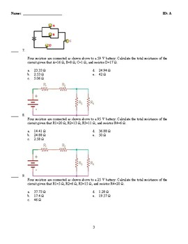 Combination Circuits - Equivalent Resistance