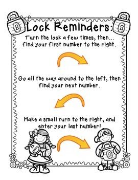 FREE Combination Lock Directions