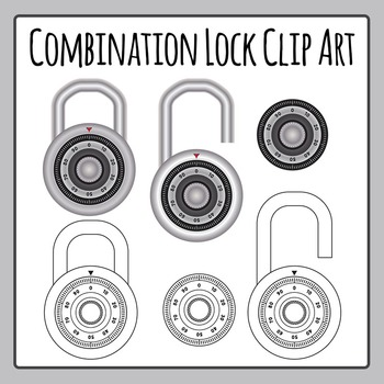Combination Lock / Locker Dials Clip Art Pack for Commercial Use