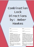 Combination Lock and directions sheet