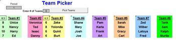 Combination Name Picker, Team Picker plus bonus Timer  A Pinkley Produ