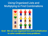 Making an organized list and relating it to multiplication PowerPoint lesson