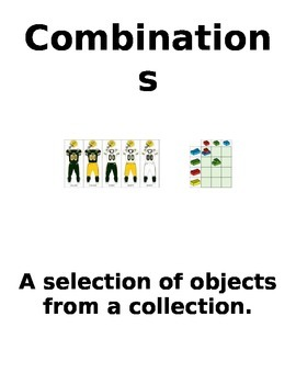 Combination Vocabulary Page