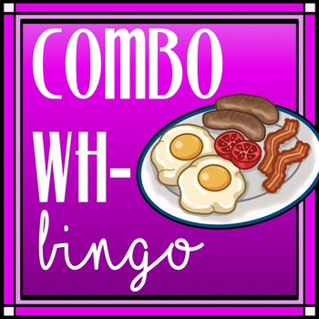 Combination Wh- Questions Bingo