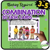 Combination and Permutation Task Cards - Uses Mall theme, Perseverance Required!