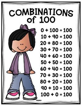 Combination of 100 - Addition Squares Math Game