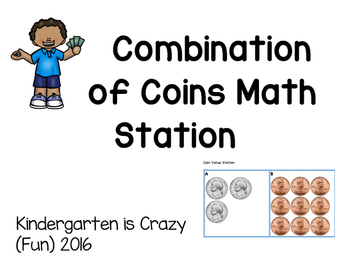 Combination of Coins Math Station