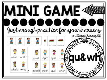 Combination wh and qu Phonics Game