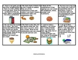 Combinations Activity Chart