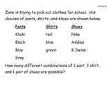 "Combinations ""Mock STAAR"" Questions 4.13A"