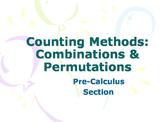 Combinations & Permutations