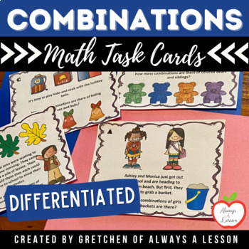 Math Combinations Task Cards Center
