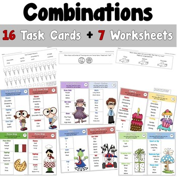 Combinations Task Cards
