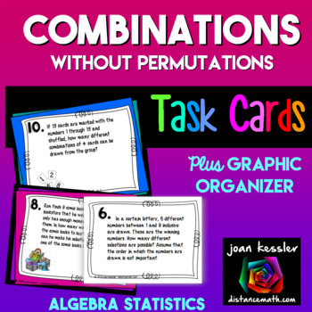 Combinations Task Cards with Organizer