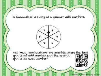 Combinations Task Cards with QR Codes