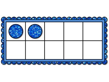 Combinations and Partitions of 10 using the Ten Frame with one and two colors