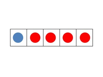 Combinations and Partitions of 5 using the five frame with two colors