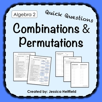 Combinations and Permutations Activity: Fix Common Mistakes!