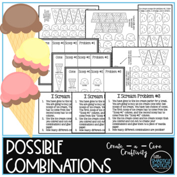 Possible Combinations: Create - a - Cone Math Craftivity #