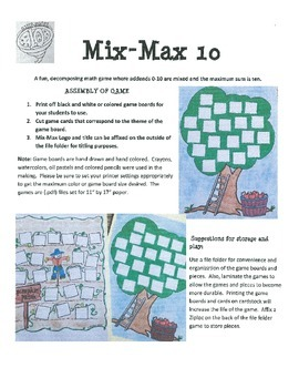 Combinations of 10 (Decomposing Numbers) Mix-Max 10 Extras